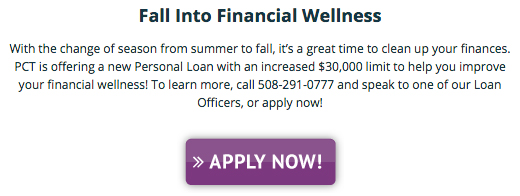 Fall Into Financial Wellness Text