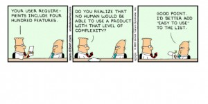 dilbert comic strip - usability